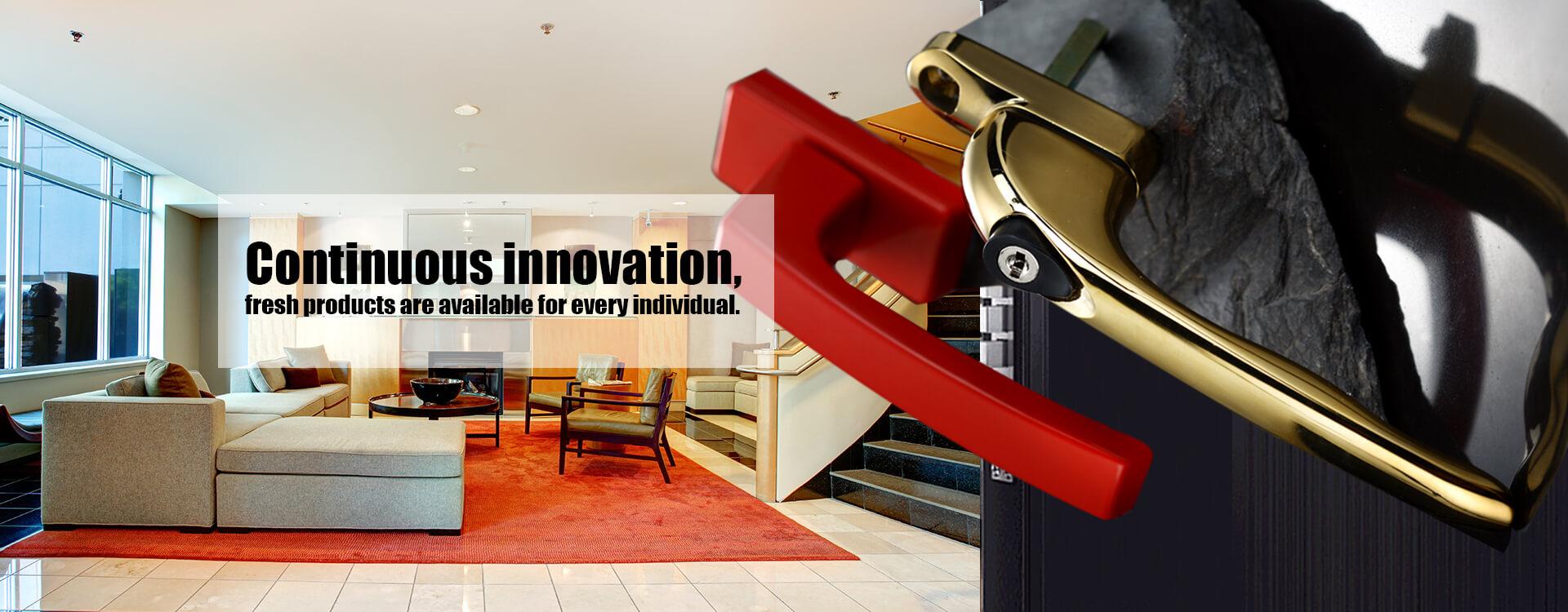 Innovation continue, les produits frais sont disponibles pour chaque individu